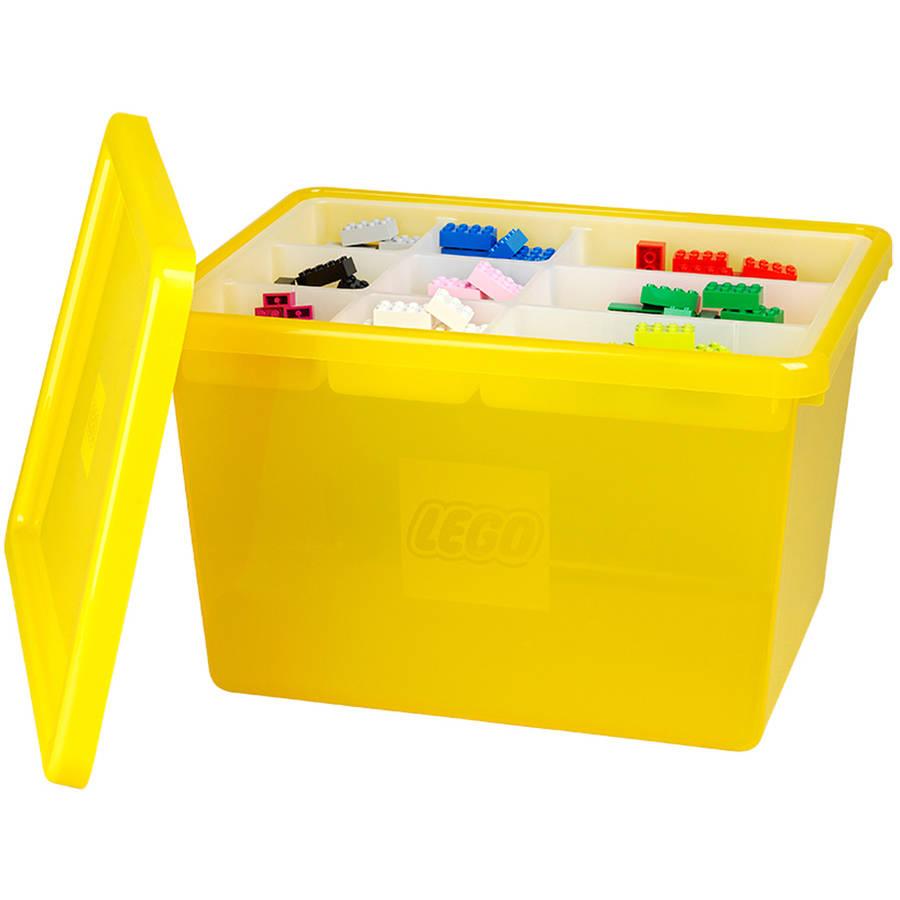 LEGO Storage Box Large with Lid, Yellow - Walmart.com