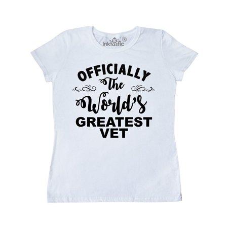 Officially The World's Greatest Vet Women's T-Shirt - Vet Costume