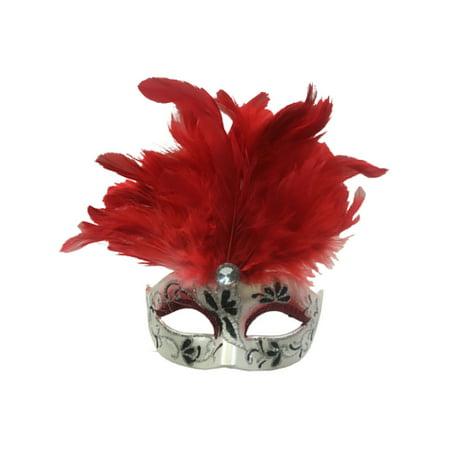 Bauer Mask (Red Mini Jordana Mask Mardi Gras Christmas Tree Ornament)
