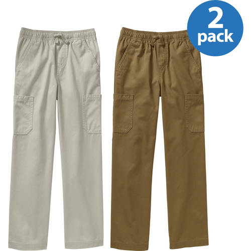 Faded Glory Boys' Pull On Pants 2-Pack Value Bundle
