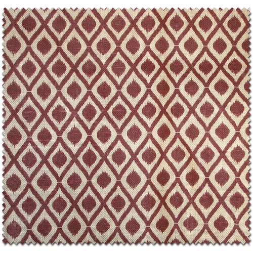 Textile Creations Jute Home Decor Burlap Diamond Burgundy Fabric, per Yard
