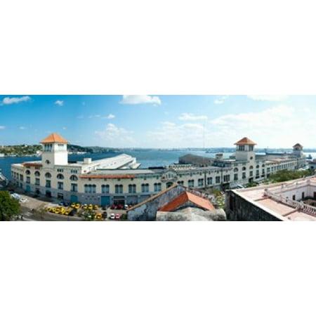 Buildings at the harborfront Sierra Maestra Havana Harbor Old Havana Havana Cuba Canvas Art - Panoramic Images (30 x 12)