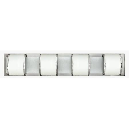 Hinkley Lighting 56014 4-Light ADA Compliant Bathroom Fixture from the Mira Collection Ada Compliant Bathroom Fixtures
