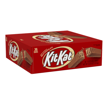 Kit Kat, Chocolate Candy Standard Bar Box, 1.5 oz (Pack of 36)