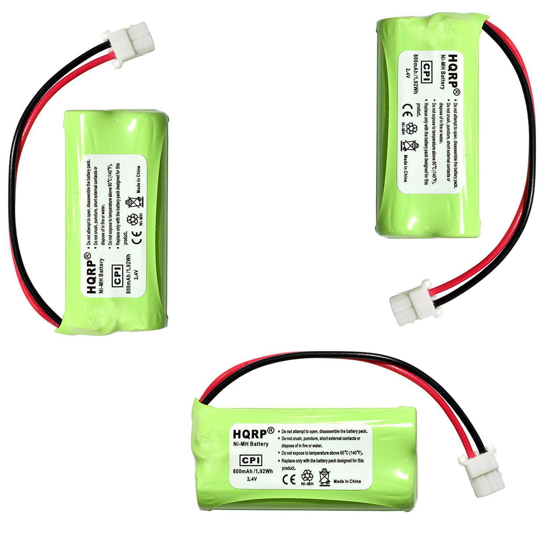 HQRP Phone Battery 3-Pack for VTech CS6124 CS6114 CS6114-11 CS6114-2 CS6114-21 CS6124-11 CS6124-2 CS6124-21 CS6309 CS6319 CS6319-2 CS6319-3 CS6319-4 CS6319-5 Cordless Telephone + Coaster