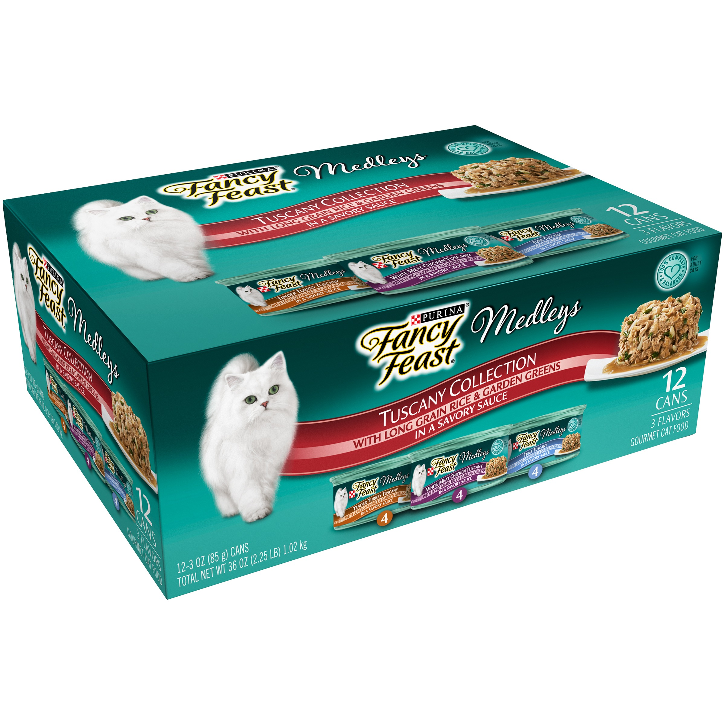 Fancy Feast Elegant Medleys Tuscany Collection Cat Food, 12 Ct by Nestlé Purina PetCare Company