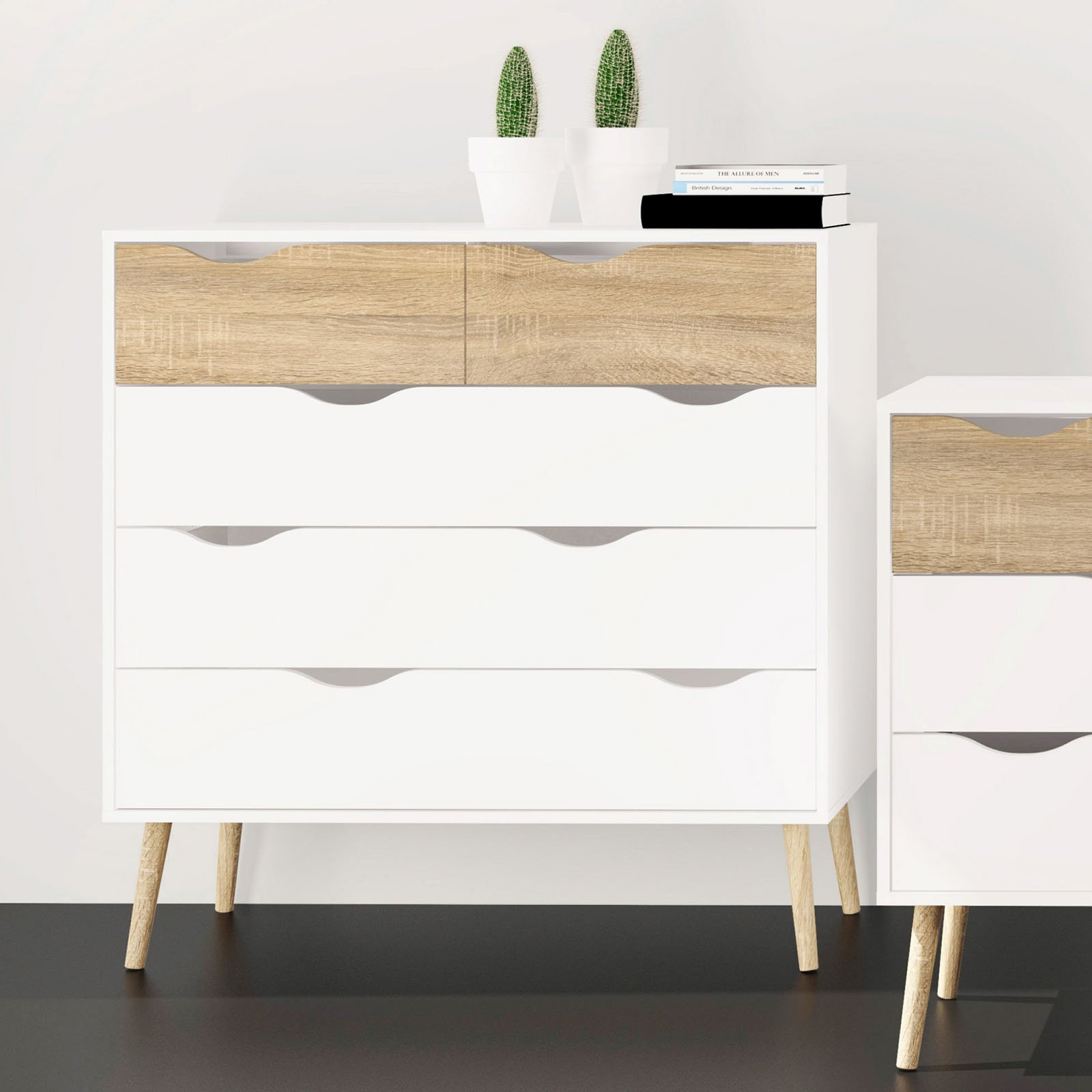 Tvilum Diana 5 Drawer Chest, Multiple Finishes