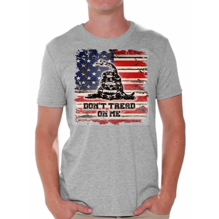 Awkward Styles Don't Tread On Me Shirts for Men Rattlesnake Clothes for Men Don't Tread On Me Tshirt for Men Patriotic Gifts American Flag USA Shirts Rattlesnake Clothing Collection for (List Of Clothing Styles For Men)