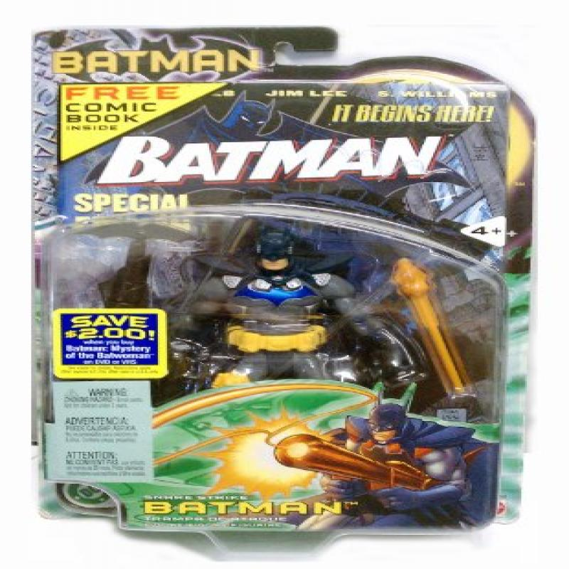 "2003 SNARE STRIKE Batman 6"" Mattel Action Figure w FREE special edition comic book by"