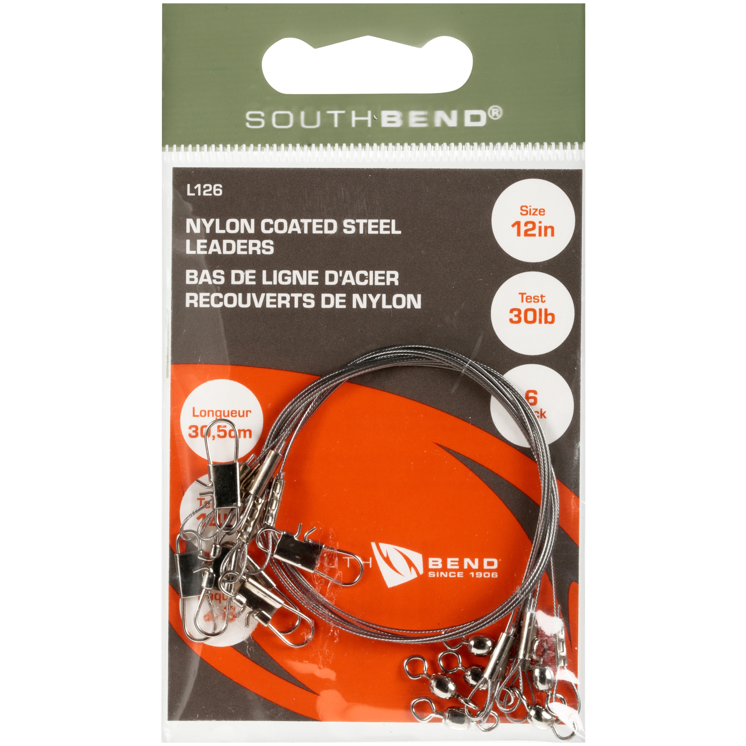 South Bend® Nylon Coated Steel Leaders 6 ct Pack