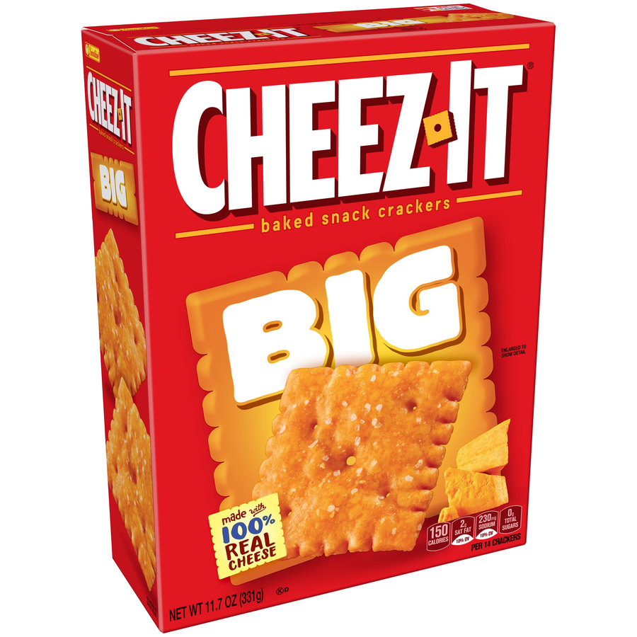 (2 Pack) Cheez-It Baked Snack Crackers Big, 11.7 Oz