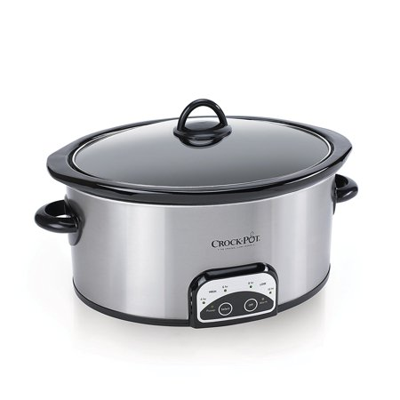 Crock-Pot 7-Quart Smart-Pot Slow Cooker, Brushed Stainless