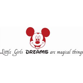 Smile Breathe Believe In Magic Mickey Mouse Disney Quote Boy Girl Bedroom Design Picture Art Mural Custom Wall Decal Vinyl Sticker 8 Inches X 26 Inches Walmart Com Walmart Com