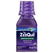 ZzzQuil Nighttime Sleep-Aid Liquid, Warming Berry 6 oz (Pack of 6)