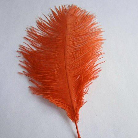 Ostrich Feather Decorative Centerpiece, 15-Inch, 1-Piece, Red - Feather Centerpiece
