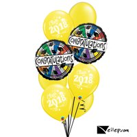 Congratulations Class of 2018 Graduation 8pc Balloon Pack - School Colors