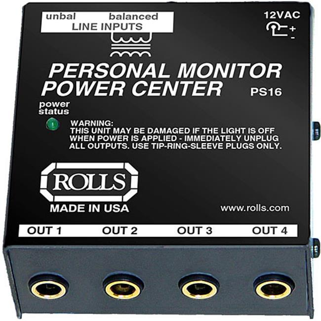 ROLLS PS16 Power Center for PM Series Personal Monitors