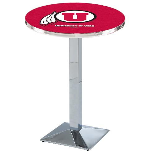 NCAA Pub Table by Holland Bar Stool, Chrome - Utah Utes, 36'' - L217