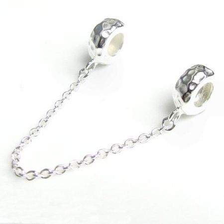 2407bcc2eb69b Queenberry - Queenberry Hammered Sterling Silver Stopper Safety ...