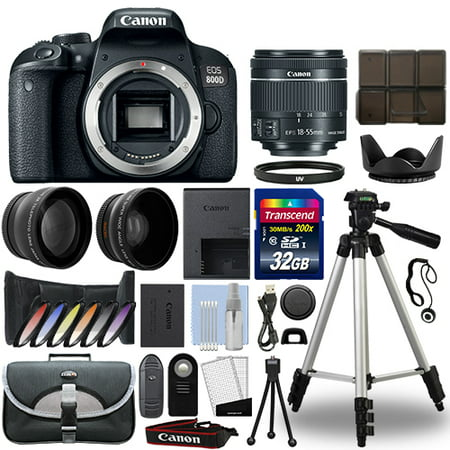 Canon EOS 800D Digital SLR Camera + 18-55mm STM 3 Lens Kit + 32GB Best Value (Best Small Canon Camera)