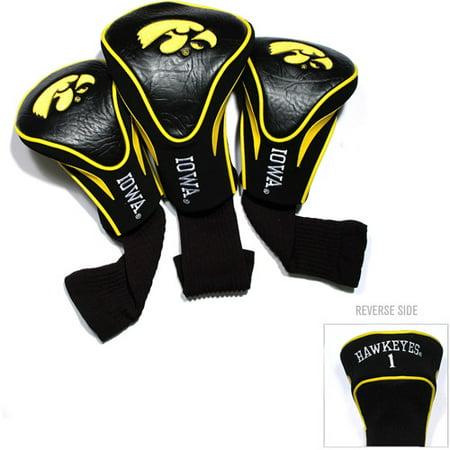 Iowa Hawkeyes Nylon Headcover - Team Golf NCAA Iowa 3 Pack Contour Head Covers