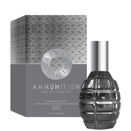Ammunition 3.4 .oz Eau De Toilette Spray by Preferred Fragrance This fragrance is crafted by master perfumers using only high quality essential oils normally found in the most expensive designer perfumes and colognes. This is the reason for its long lasting scent. Enjoy a high quality, luxury experience at about a third of the price of a traditional designer Fragrance. This perfume is recognized as being the best alternative to the original.