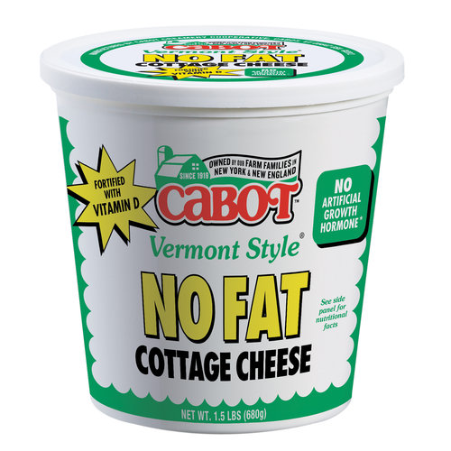 Cabot Vermont Style No Fat Cottage Cheese, 1.5 lbs