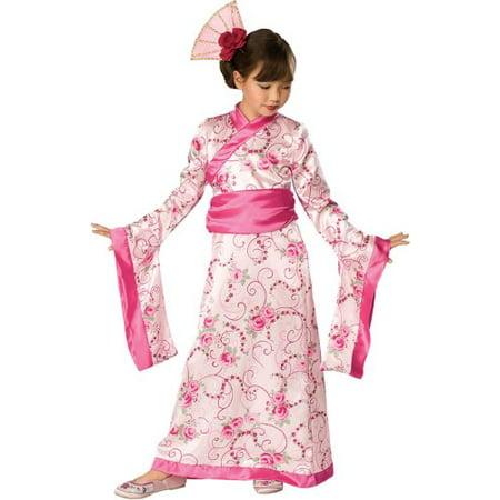 Let's Pretend Child's Asian Princess Pink Kimono Costume, Large By Rubie's - Asian Princess Costume
