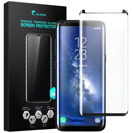 Samsung Galaxy S8 Screen Protector, i-Blason [Case Friendly] Premium Edge-to-Edge Full Coverage Tempered Glass Screen Protector for Samsung Galaxy S8