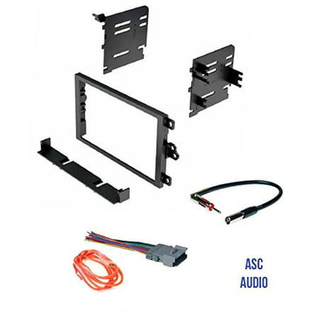 Audi Harness - ASC Audio Car Stereo Dash Kit, Wire Harness, and Antenna Adapter to Add a Double Din Radio for some Buick Chevrolet GMC Hummer Isuzu Oldsmobile Pontiac