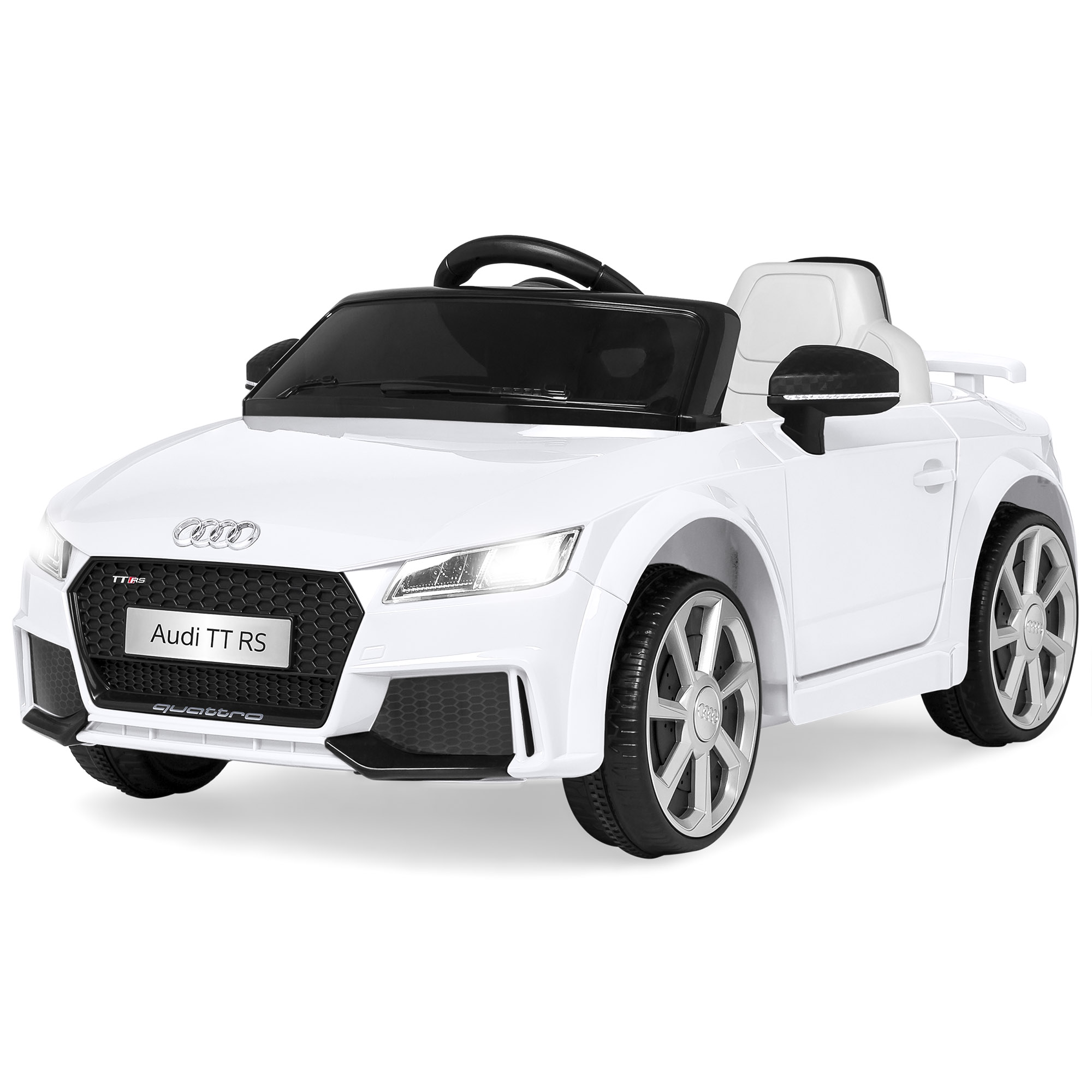 Best Choice Products 6V Kids Licensed Audi TT RS Electric Ride-On Car Toy w/ Parent Control, 2 Speeds, Suspension, AUX Input, Lights, Sounds - Red