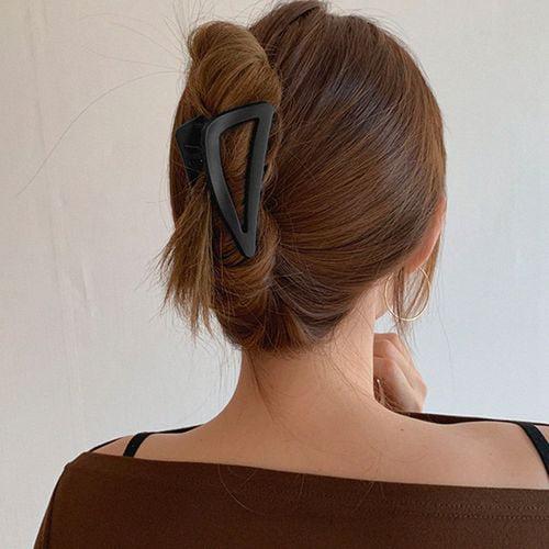 Women Hair Claw Clamps Large Hair Clips Matte Shark Fashion Hairpins F5G6
