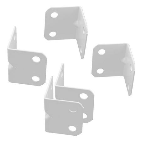 A16080800ux0289 meubles en forme de L Angle droit support d'angle Brace support renforcer Connexion en métal – Blanc (5 pièces) - image 3 de 3