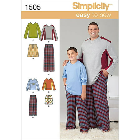 Simplicity Mens' Size S-5XL Sleepwear Pattern, 1 (Sewing Patterns Western Wear)