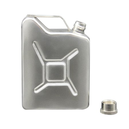 Stainless Steel Jacketed Tank - New 5 OZ Flask Gas Can Tank Stainless Steel Screw Cap Hip Pocket Liquor Alcohol
