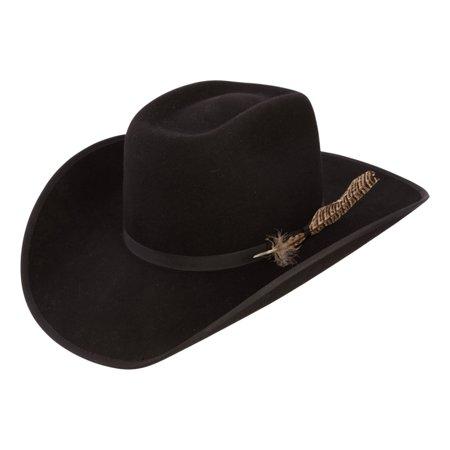 New Fur Felt - Resistol Cowboy Hat Mens Fur Felt Holt Black RWHOLTB-794207