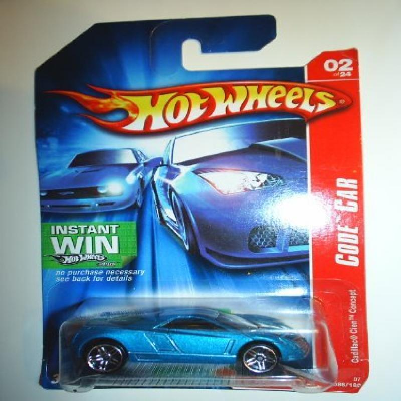 2007 hot wheels instant win card cars