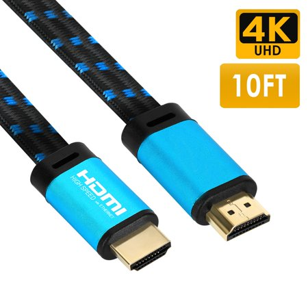 4K HDMI Cable 10FT - FiveHome 4K@60Hz HDMI Ready - 18Gbps - 30 AWG