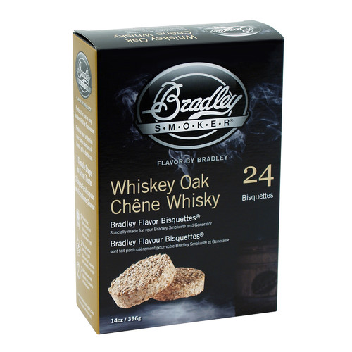 Bradley Flavor Bisquettes, Whiskey Oak, 24-Pack