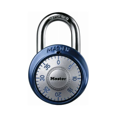 Master Lock Padlock 1561DAST Combination Dial with Aluminum Cover, 1-7/8in (48mm) Wide, Assorted Colors