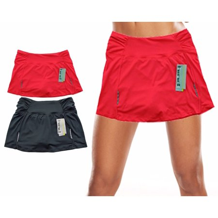 Hind Women's Dry Lete Athletic Skirt with Built in Shorts (Running Shorts Women Large)