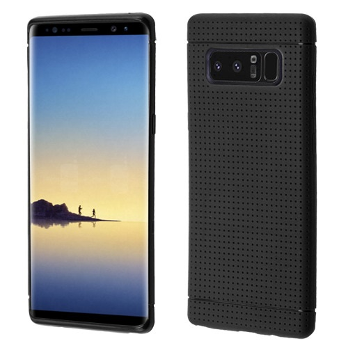 Valor Lattice Points Rubber Cover Case For Samsung Galaxy Note 8 - Black