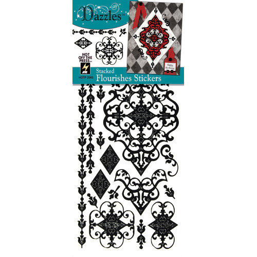 Dazzles Stacked Flourish Stickers (Set of 4)