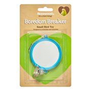 Rosewood Pet Boredom Breaker Large Round Mirror With Bell Small Bird Toy