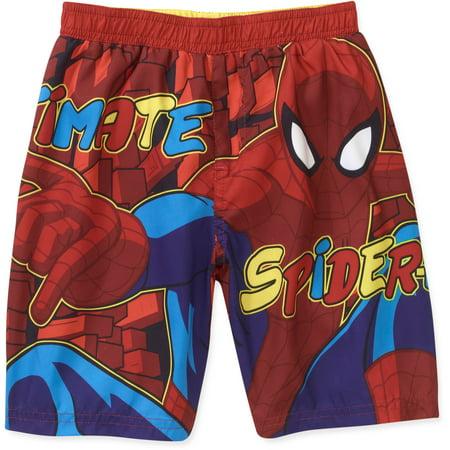 eddeaa300683e Spider-Man - ^^marvel Baby Boys' Spiderman Swim Trunk - Walmart.com