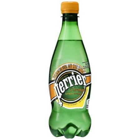 Perrier Sparkling Natural Mineral Water, L'Orange, 16.9 Fl Oz, 24 Count
