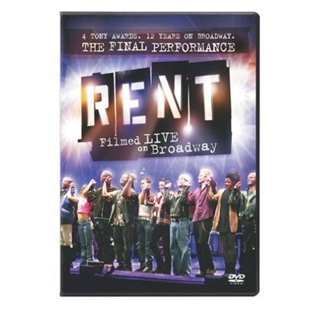 Rent: Filmed Live on Broadway (DVD) - Films On Halloween