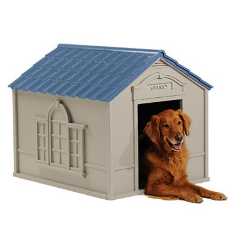 Suncast Deluxe Personalized Large Dog House DH 350 by Suncast