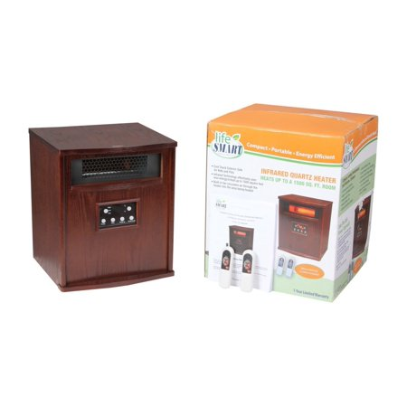 Lifesmart pro 6 element large room infrared quartz heater for Small room quartz heater