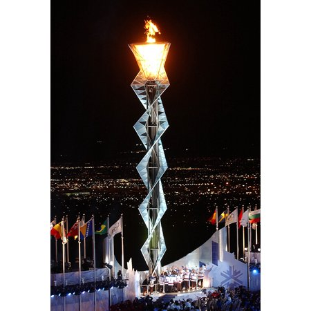 LAMINATED POSTER Olympic flame during 2002 Winter Games in Salt Lake City, Utah, United States. From the Navy website Poster Print 24 x - Website For Party City